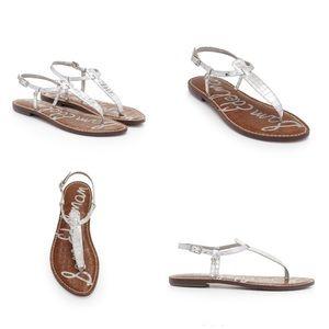 0c0058304fb8 Sam Edelman Shoes - Sam Edelman Gigi Thong Sandal In Silver Boa